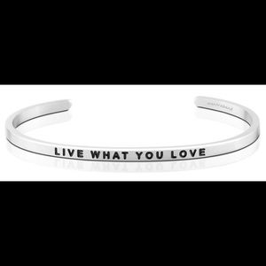 Jewelry - Mantra Band love what you love silver bracelet